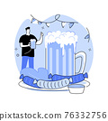 Beer fest abstract concept vector illustration. 76332756