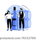 Sommelier abstract concept vector illustration. 76332760