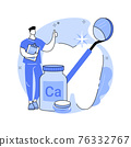 Uses of Calcium abstract concept vector illustration. 76332767