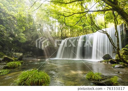 waterfall, Beam Of Light, fresh verdure 76333817