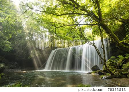waterfall, Beam Of Light, fresh verdure 76333818