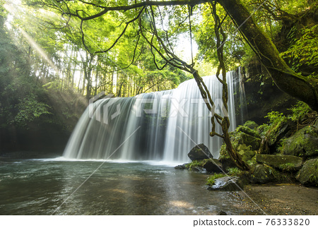 waterfall, Beam Of Light, fresh verdure 76333820