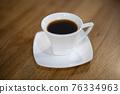 espresso coffee in white glass 76334963