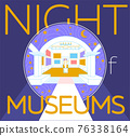 Museum Night poster or banner 76338164