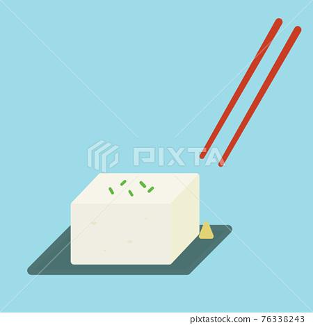 冷豆腐 豆腐 矢量 76338243