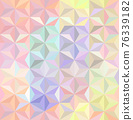 Vector Pastel Iridescent, Multi Colors or Holographic Geometric Triangles Pattern for Textile Print. 76339182