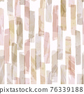 Vector Pink and Beige Watercolor Drawing Overlapping Stipes Seamless Pattern 76339188