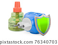 Fumigator with shield, 3D rendering 76340703