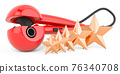 Customer rating of curling iron, hair curler. 3D rendering 76340708