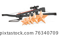 Customer rating of crossbow. 3D rendering 76340709