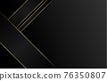 Black abstract background tech geometric modern dynamic shape with gold lines vector illustration. 76350807