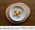 Asian food fish paste, oden 76351602