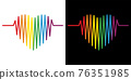 LGBTQ Heart with rainbow. Gay Pride Concept Design For tshirt, greeting card or poster Background Vector Illustration Background illustration. 76351985