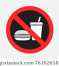 fast food prohibited sign sticker 76362638