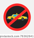 prohibited cab taxi driving sign sticker 76362641