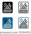 Abrasion resistant vector information sign 76364003