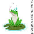 Frog Pond Birthday Hat Insects Illustration 76369065