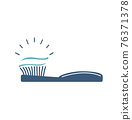 toothbrush with toothpaste icon vector 76371378