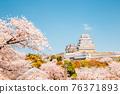 Spring of Himeji Castle in Japan 76371893