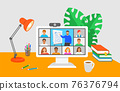 Virtual class online education distance learning 76376794
