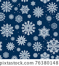 Snowflakes seamless pattern 76380148