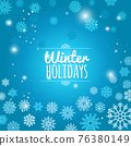 Winter holiday blue snowflakes background 76380149