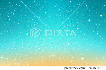Space background. Cartoon cosmos. Color sky with shining stars. Bright cosmos with milky way. Aurora with stardust. Shiny galaxy. Vector illustration 76383188