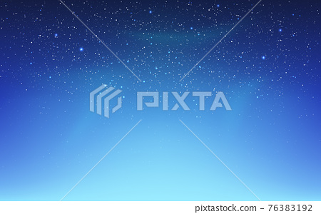 Space background with northern lights. Aurora borealis and shining stars. Color starry sky with milky way. Realistic cosmos texture. Bright galaxy. Vector illustration 76383192