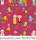 The collection of the children doing the activity on the ramadhan in pattern set 76385786