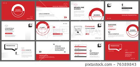 Presentation and slide layout background. Design red and black geometric template. Use for business keynote, presentation, slide, marketing, leaflet, advertising, template, modern style. 76389843