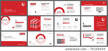 Presentation and slide layout background. Design red and black geometric template. Use for business keynote, presentation, slide, marketing, leaflet, advertising, template, modern style. 76389844
