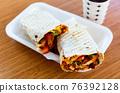 Turkish fast food, wrapped dish durum kebab 76392128