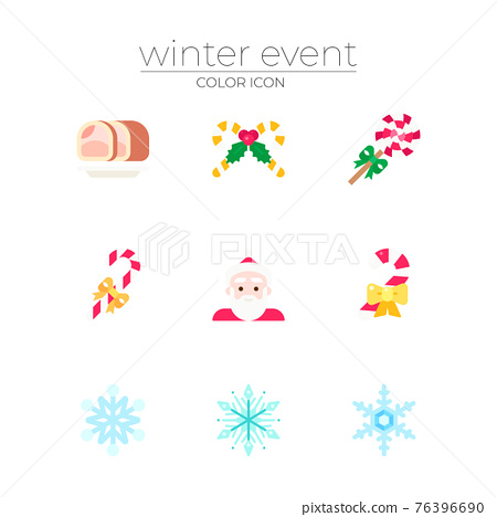 winter holiday and Christmas season concept icons 76396690
