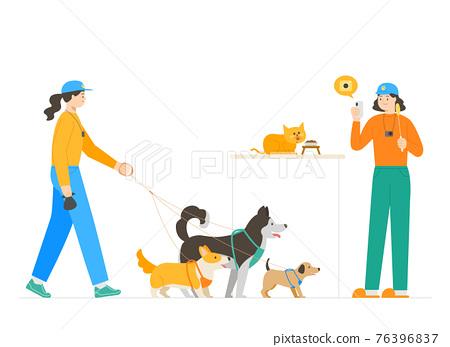 dog walking, walker service 76396837