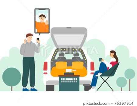 car camping trend 76397914