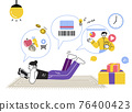 untact life filled with online lecture, home shopping, barcode payment 76400423