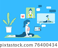 online training, yoga class 76400434