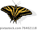 Three-tailed Swallowtail Butterfly 76402118