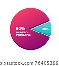 The infographic of pareto Principle. Isolated Vector illustration 76405399