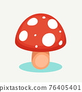 The red mushroom. Isolated Vector Illustration 76405401