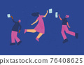 People with vr glasses. Vector virtual reality set 76408625