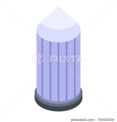 Water tower icon, isometric style 76408859
