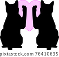 cat, pussy, silhouette 76410635