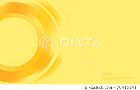 Abstract circles yellow background vector illustration  76415541