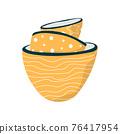 Vector illustration. Empty flat plates. Modern kitchen bowls. 76417954