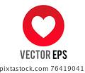 Vector social media love heart modern symbol icon 76419041