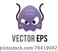 Vector classic game purple alien monster 8-bit graphic icon 76419042