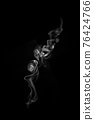 movement of smoke on black background, smoke background, abstract smoke on black background 76424766