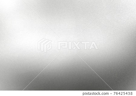 Light shining on white silver foil glitter metal wall with copy space, abstract texture background 76425438