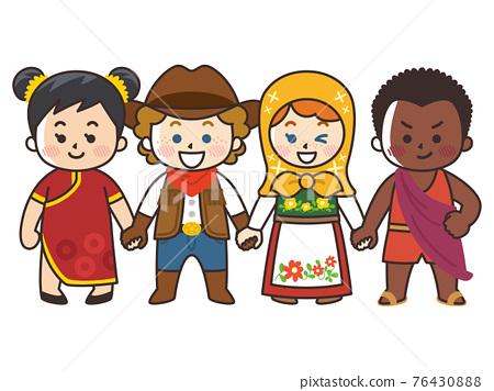 世界 兒童 孩子 76430888